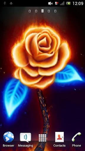 Neon rose Live Wallpaper