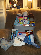 Photo: Here is our completed winter emergency kit!