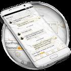 Marble White SMS Mensajes icon