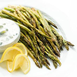 Roasted Asparagus with Tzatziki Sauce Recipe