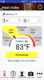 OSHA NIOSH Heat Safety Tool screenshot for Android