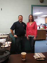 Photo: Ted Losey & Janet Lee getting ready to serve the pancakes & sausage!!