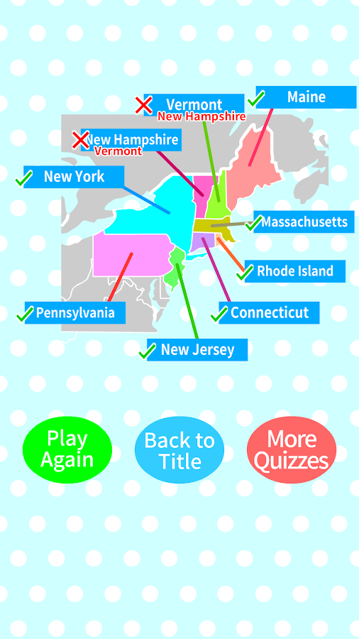 US States Capitals Map Quiz Android Apps on Google Play