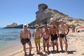 Photo: kompletný Myjava team na pláži de St. Antoine
