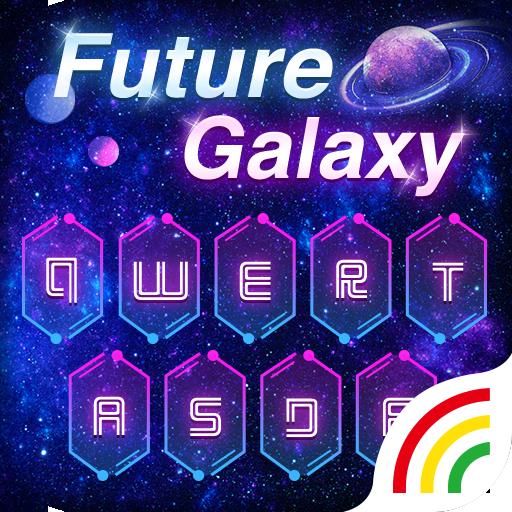 Future Galaxy Keyboard Theme