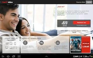 Screenshot of Clarovideo