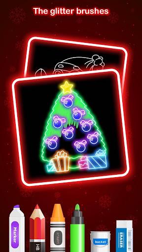 Draw Glow Christmas 2020 screenshots 3