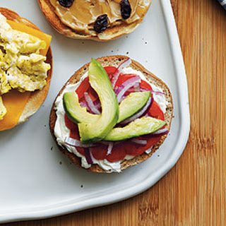 Cream Cheese, Tomato, Red Onion, and Avocado Bagel