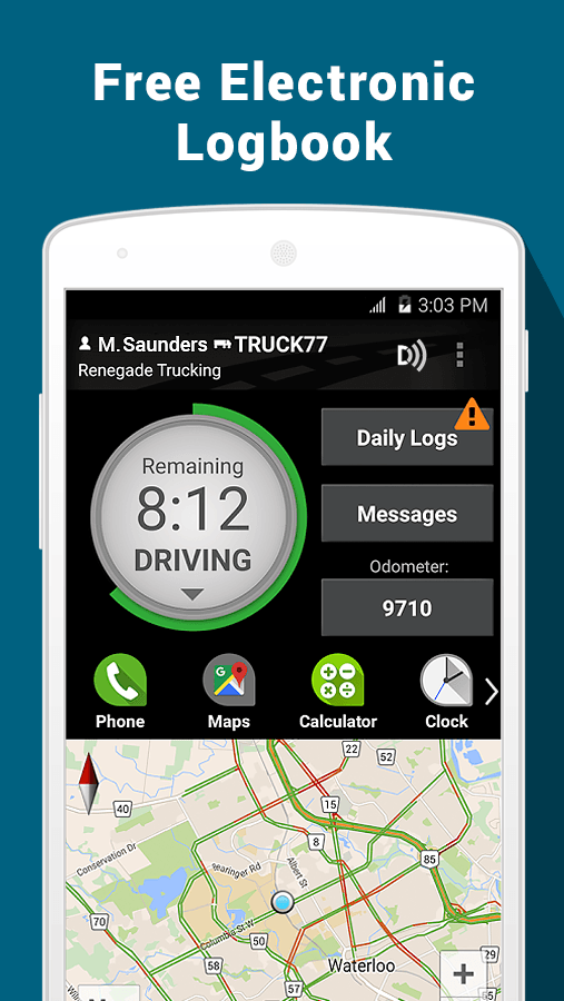 BigRoad Trucking Logbook App- screenshot