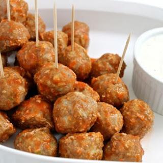 Buffalo Turkey Meatballs.