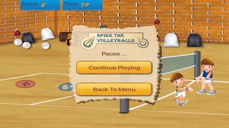 Spike the Volleyballs screenshot