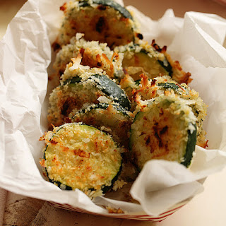 Crispy Baked Coconut Zucchini with Mango-Jalapeno Dipping Sauce