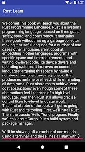 Rust Learn - náhled