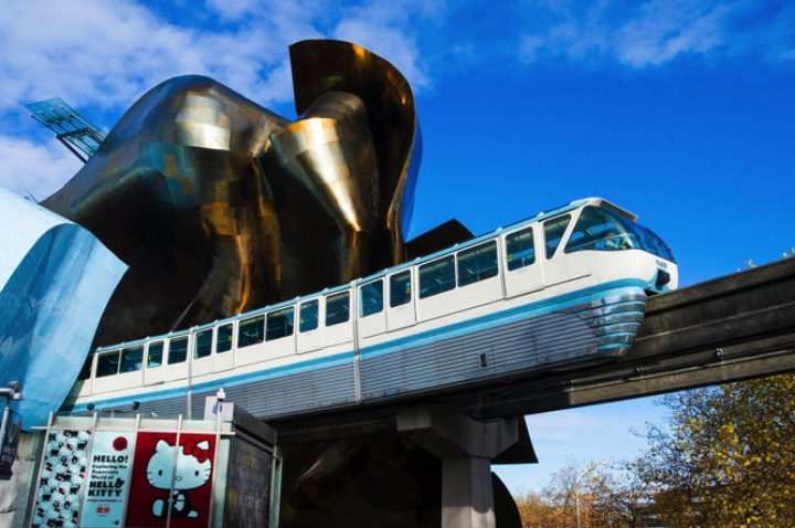 Monorail Rides in the Museum of Pop Culture in Seattle