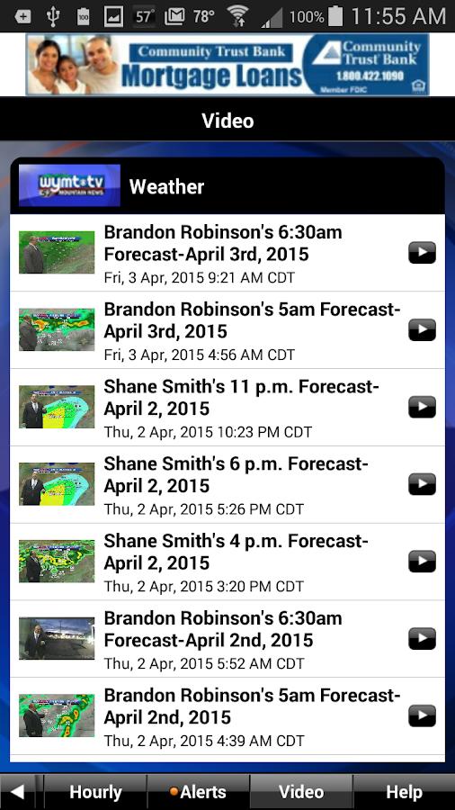 WYMT Radar- screenshot