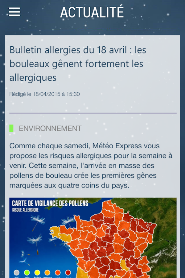 Météo Express- screenshot
