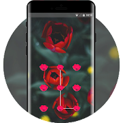 natural red flower lock theme APK