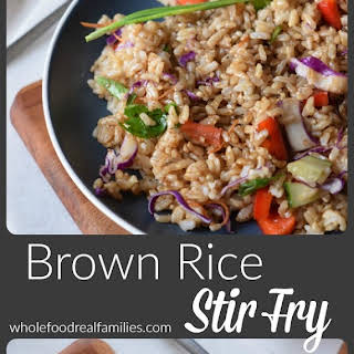 Brown Rice Stir Fry.