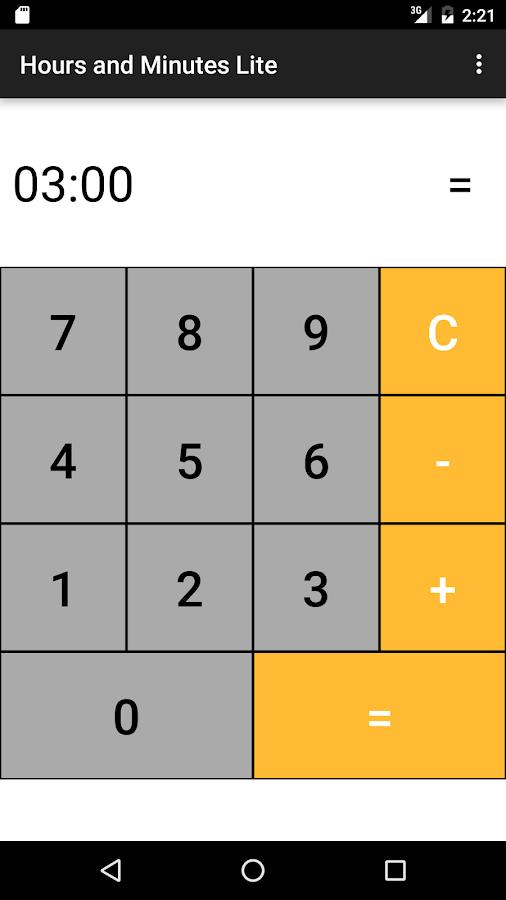 time hour calculator