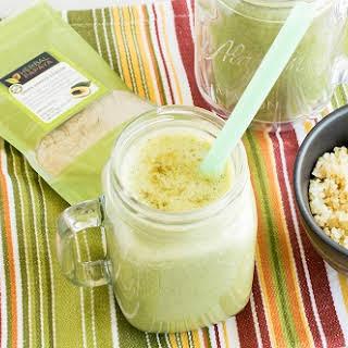Green Papaya Powder Spinach Quinoa Smoothie.