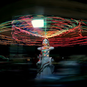 ID: Low Light Magic   by Shibalik Choudhury - City,  Street & Park  Street Scenes ( mela, ride, action, india, night, travel, fun, panned_motion_photography, slow_shutter, people, low_light, culture,  )