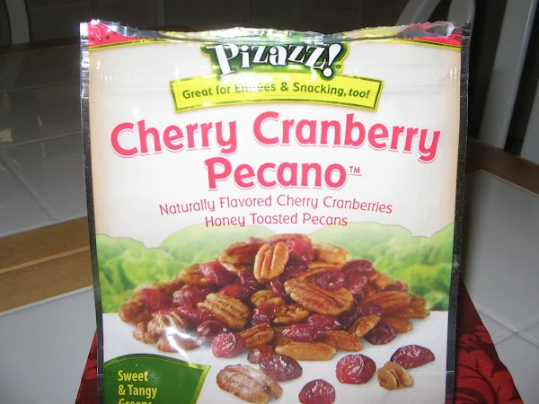 Fold in the chicken and pea mixture, and the cherry-cranberry-pecano snack.Toss to coat evenly....