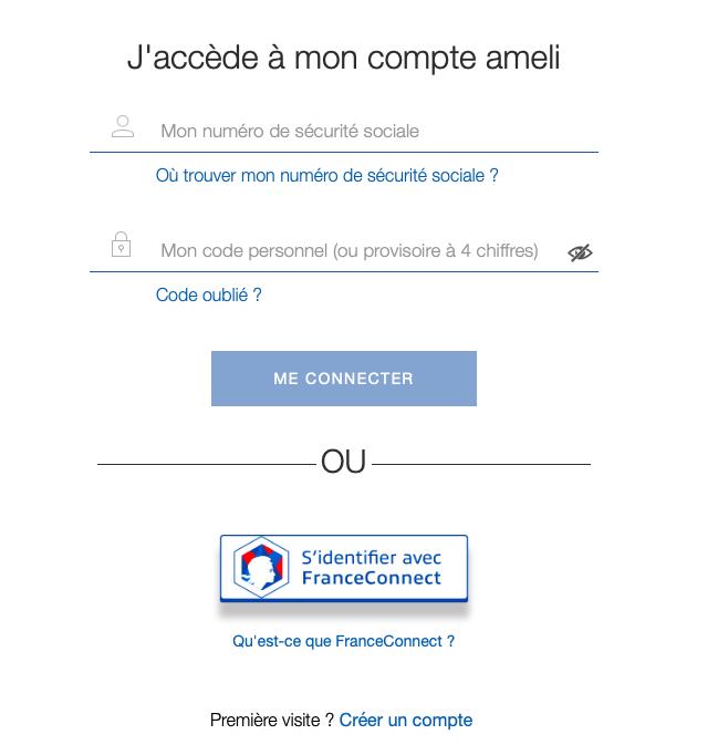 Identification au compte FranceConnect