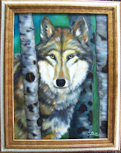 Photo: Wolf. 18 x 24 Oil on Canvas. $499.00