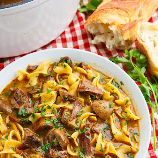 Slow Braised Beef Stroganoff Soup Recipe
