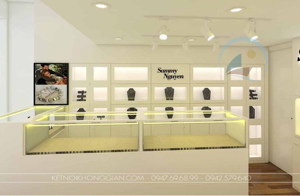 Thiết kế nội thất cửa hàng vàng bạc