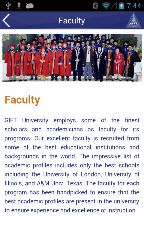 GIFT University- screenshot