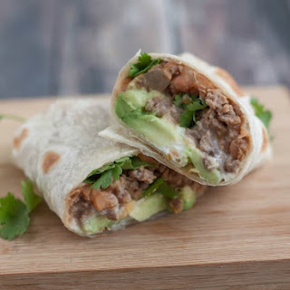 Easy Beef and Bean Burritos.