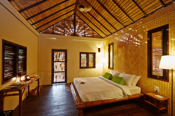 Try the overnight package and sleep in comfortable natural bungalows