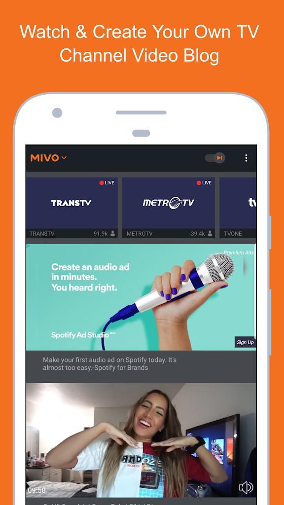Mivo untuk Android - Apk Unduh