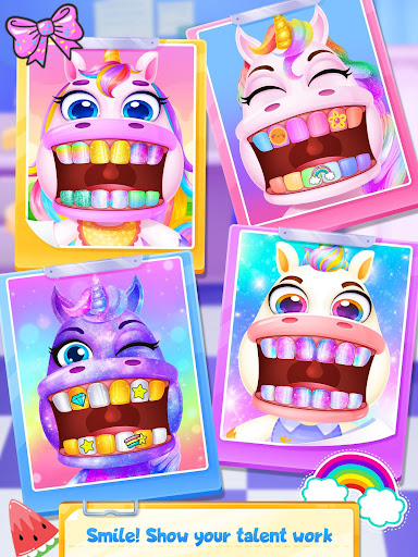 Unicorn Dentist: capturas de pantalla del Rainbow Pony Beauty Salon 5