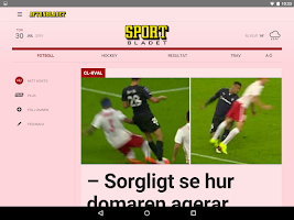 Screenshot of Aftonbladet