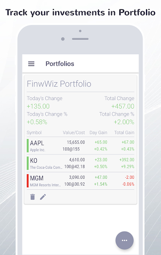 FinWiz-Stocks, News, Investing,Portfolio & Markets  screenshots 6