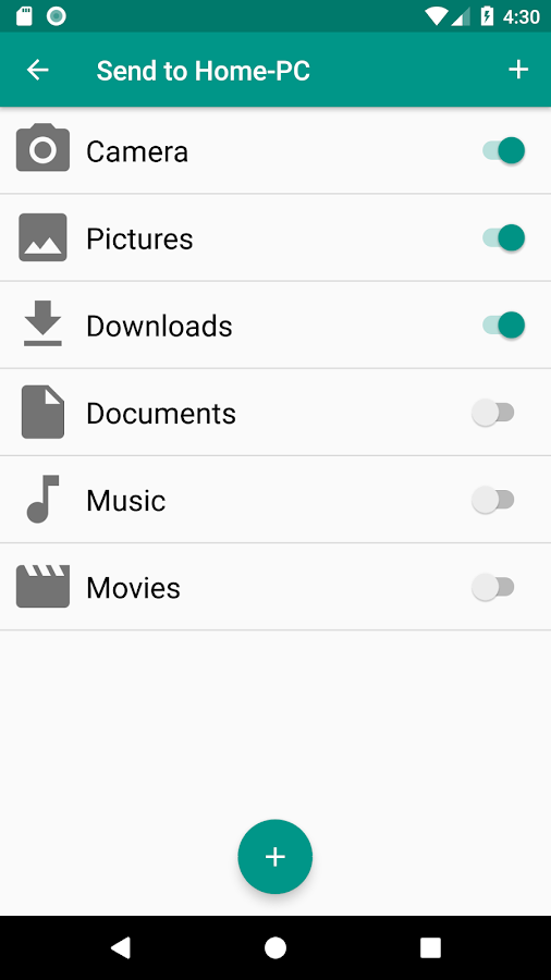 SyncMyDroid Free - Copy files to your PC- screenshot