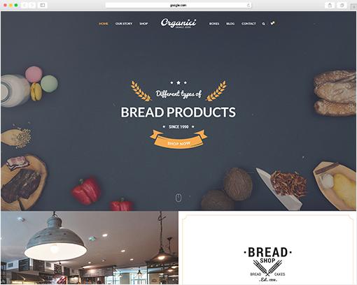 woocommerce bakery themes organici