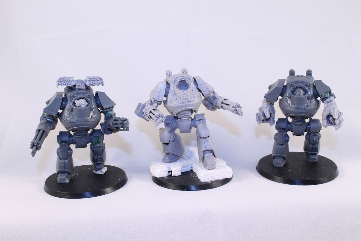 Three Contemptor Dreadnoughts