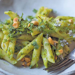 Coriander & Peanut Pesto With Penne.