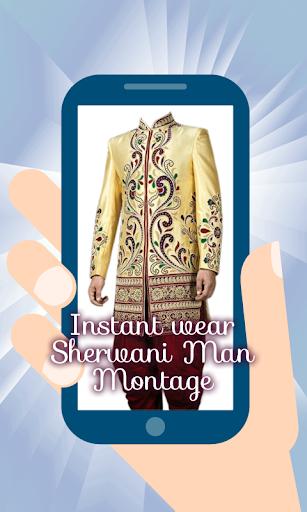 Sherwani Suit Man Montage