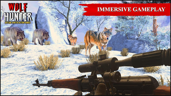 Wolf Hunter 2020: Offline Hunter Action Games 2020 for PC-Windows 7,8,10 and Mac apk screenshot 4