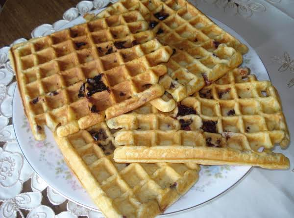 Sour Cream Blackberry Waffles Recipe