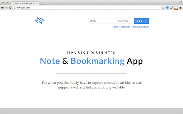 Maurice Wright - Note and Bookmarking App