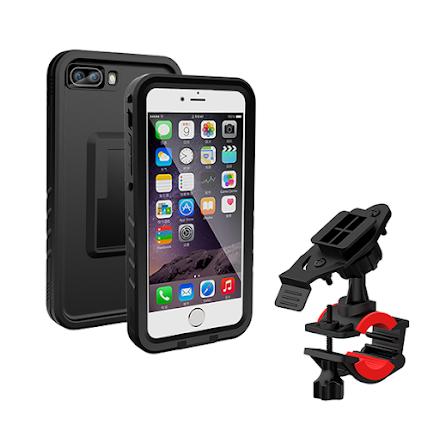 Cykelhållare iphone 7/8 plus inkl ett stöt och vattentåligt skal