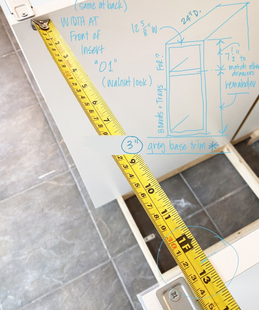alison kent the home kitchen renovation reno measuring cabinetry