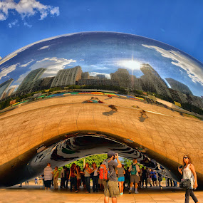 Cloud gate by Yongki RS - City,  Street & Park  Street Scenes ( architect, building, street, chicago, cloud gate )