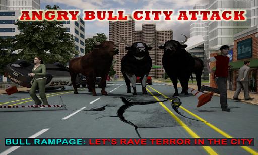 성난 황소 도시 공격
