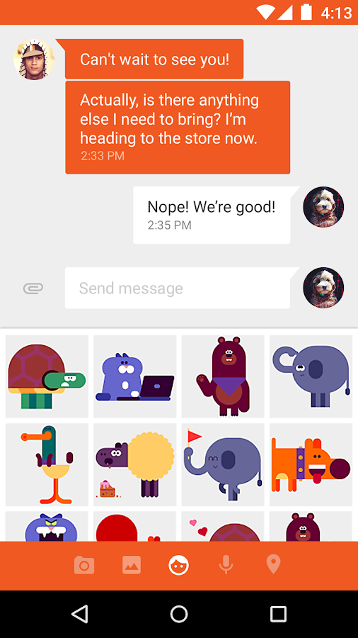 Screenshots of Messenger for Android